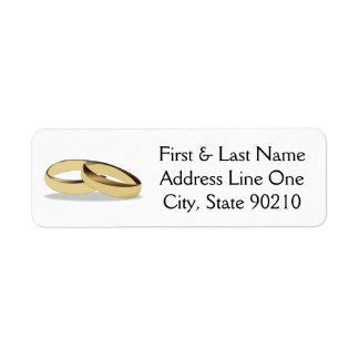 Wedding Ring Return Address Label