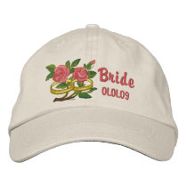 Wedding Ring Roses - Bride Embroidered Baseball Cap
