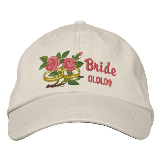 Wedding Ring Roses - Bride Embroidered Hat