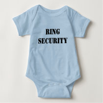 Wedding Ring Security Bridal Party Baby Bodysuit