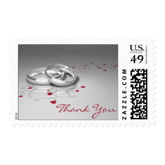 Wedding Ring Thank You Stamps