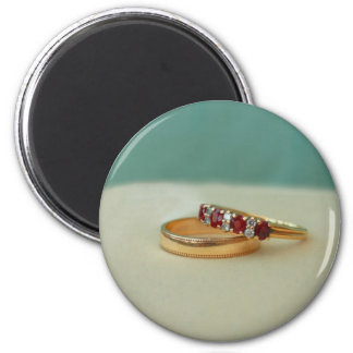 Wedding Rings 2 Inch Round Magnet
