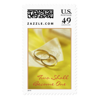 Wedding Rings (4), Two Shall Become One Postage Stamp