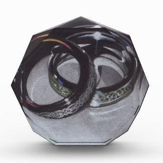 Wedding Rings Acrylic Award