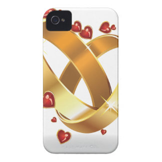 Wedding rings and hearts iPhone 4 Case-Mate case