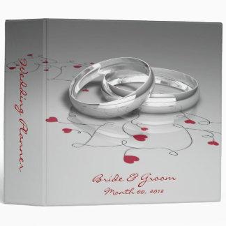 Wedding Rings and Hearts Wedding Planner Binder