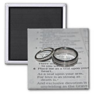 Wedding Rings Bible Verse Magnet