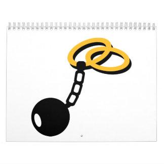 Wedding Rings bonds shackle Calendar