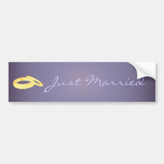Wedding Rings Bumper Sticker