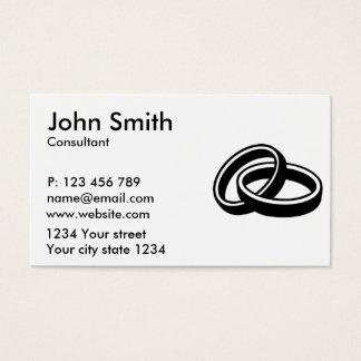 Wedding rings business card