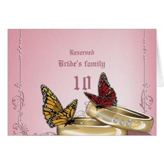 Wedding Rings & Butterflies Weding Table Numbers