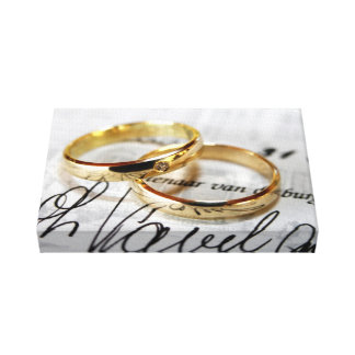 wedding rings canvas