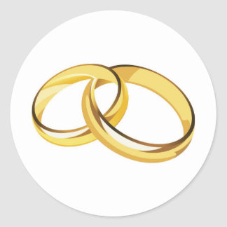 wedding rings classic round sticker