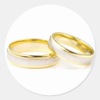 Wedding Rings Classic Round Sticker