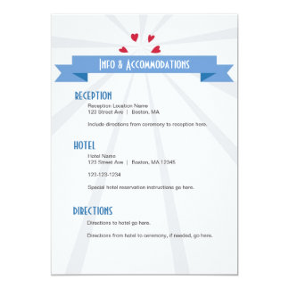 "Wedding Rings Details Card in Blue 5"" X 7"" Invitation Card"