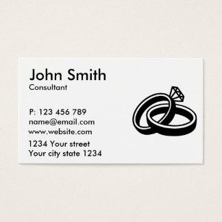 Wedding rings diamond business card