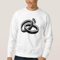 Wedding rings diamond sweatshirt