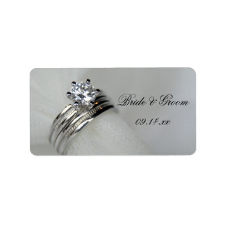 Wedding Rings Favor Tag