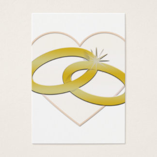 Wedding Rings Heart Gold Romantic | Bridal Business Card