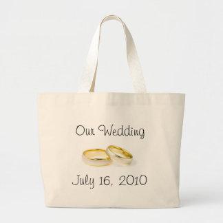 Wedding Rings Jumbo Tote Bag