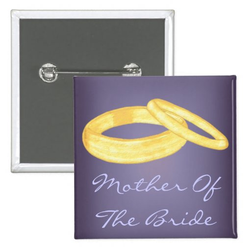 Wedding Rings (Mother of the Bride) Buttons