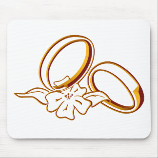 Wedding Rings Mouse Pad