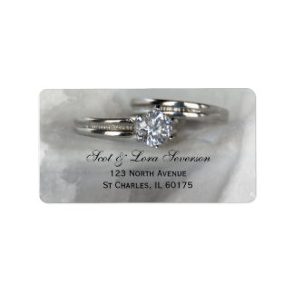 Wedding Rings on Gray Address Labels