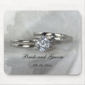 Wedding Rings on Gray Mouse Pad