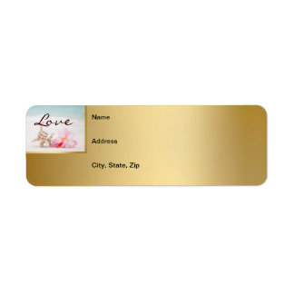 Wedding Rings On The Beach Mailing Label