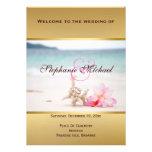 Wedding Rings On The Beach Program Card