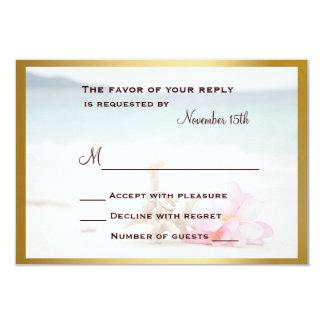 Wedding Rings On The Beach RSVP Card