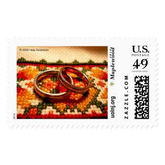 Wedding Rings Postage Stamp