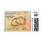 Wedding Rings Postage Stamps