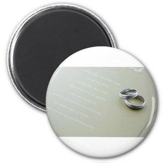 Wedding rings refrigerator magnets