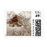 Wedding Rings RSVP postage
