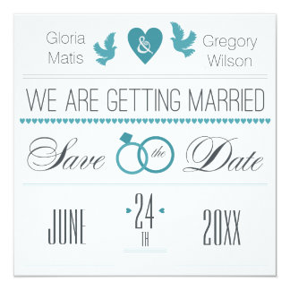 Wedding Rings Save the Date Announcement