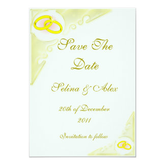 Wedding Rings Save the Date Card