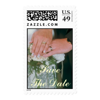Wedding Rings Save The Date Postage Stamp