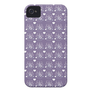 Wedding rings silver on dark purple Case-Mate iPhone 4 case