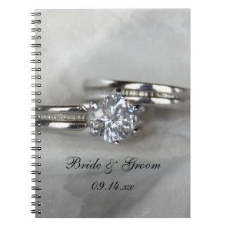 Wedding Rings Spiral Notebook