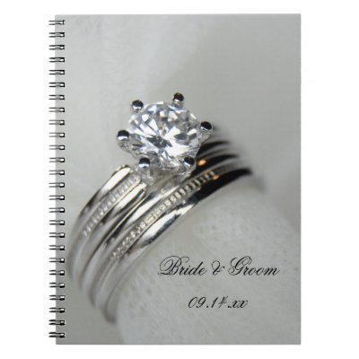 Wedding Rings Spiral Notebook by loraseverson