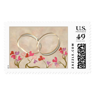 Wedding rings stamp with 5 background options