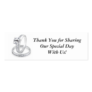 Wedding Rings Tag Double-Sided Mini Business Cards (Pack Of 20)