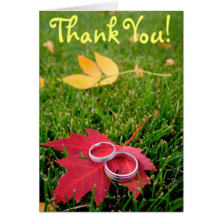 Wedding Rings, Thank You Card