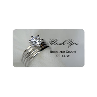 Wedding Rings Thank You Favor Tag