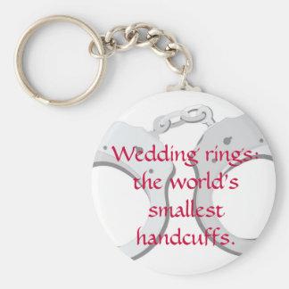 Wedding rings:  the world's smallest handcuffs basic round button keychain