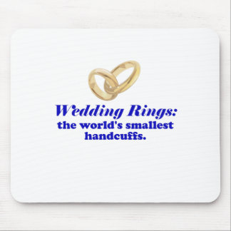 Wedding Rings the Worlds Smallest Handcuffs Mouse Pad