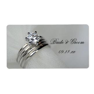 Wedding Rings Wedding Stickers Shipping Label
