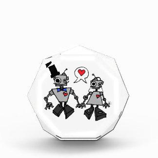 Wedding robots acrylic award