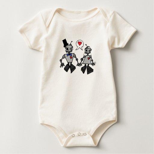 Wedding robots baby bodysuit